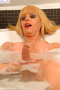Hot Milf Tranny Blonde Shows Her Tiny Hot Body - Part III