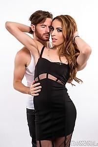 Brendan Patrick posing with Savannah Thorne