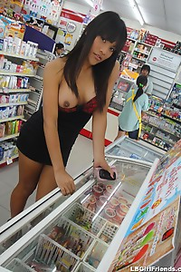 Ladyboy public flashing