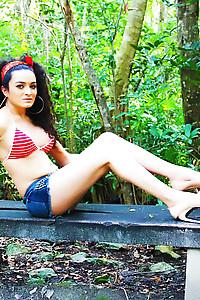 Keira Verga in the Jungle