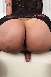 Hot Big Ass Latina In Black Lingerie