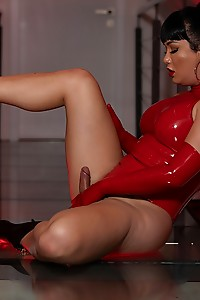 Bianka is so hot in red latex body suit craving for your cock and your creamy seed