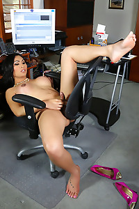 Annalise in office chair