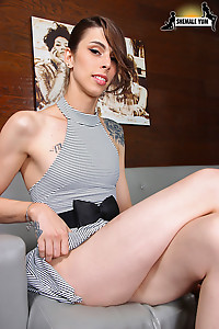 Casey Kisses is a stunning transgirl with an amazing body, long sexy legs, natural tits, a firm ass
