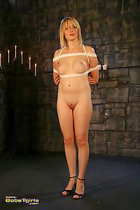 Sexy post op Carmen in tempting rope bondage