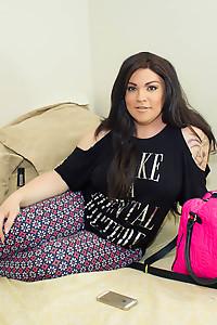 Michelle in her Dorm Room