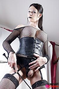 Hannah Sweden In Mesh Net Stockings
