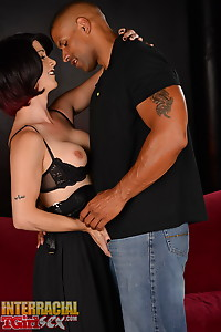 Nina takes a big black cock