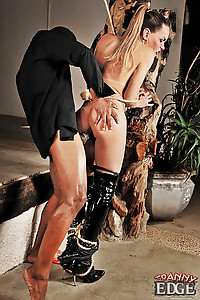 Ts submissive gettings owned by black cock
