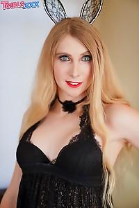 Beautiful Blonde Bunny T-girl