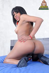 Rafaela Aguiar hot ts with fire in her eyes
