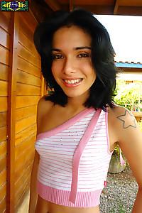 Brunette Latina Beauty Sucks A Dick