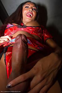 Thai Model Moss In Red Dress Bareback
