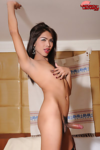 Meay is a slender and beautiful ladyboy from Phucket. She works at Temptation Bar, which is a perfec