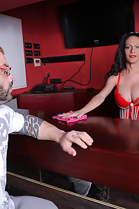Sexy bartender TGirl Lludy Fortune serves up some hardcore cock tonight!