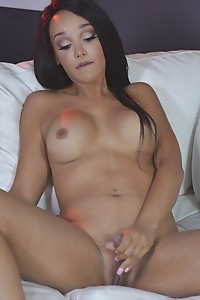 Sunshyne Works Out Her Cock by Pumping It Until Hot Cum Explodes