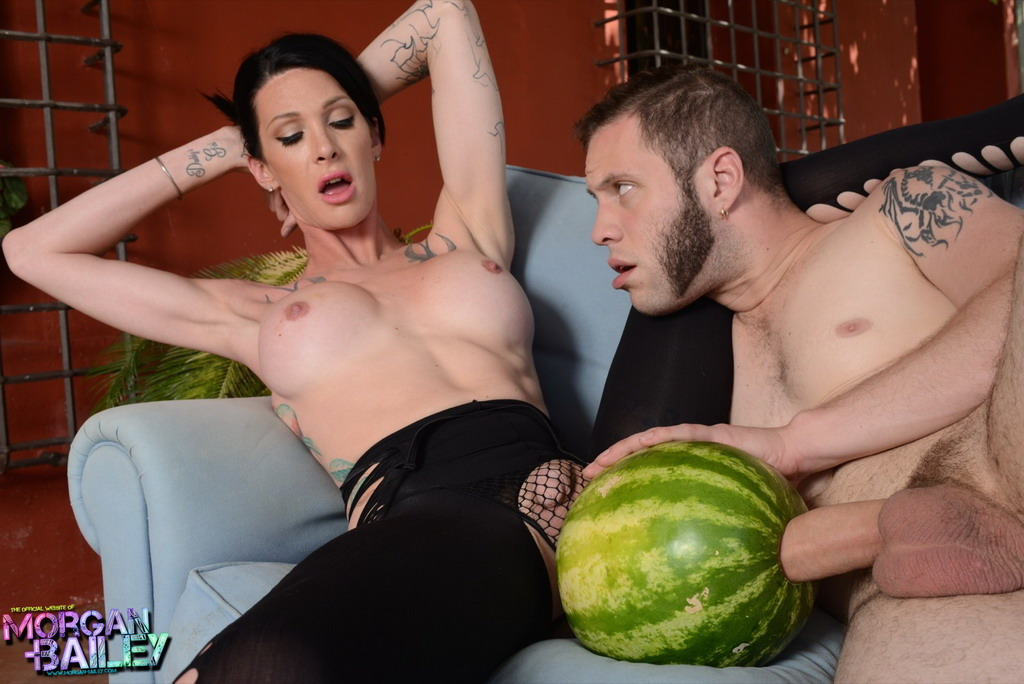 Trannies fucking watermelons
