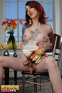 Gorgeous transsexual Brittany toying and posing