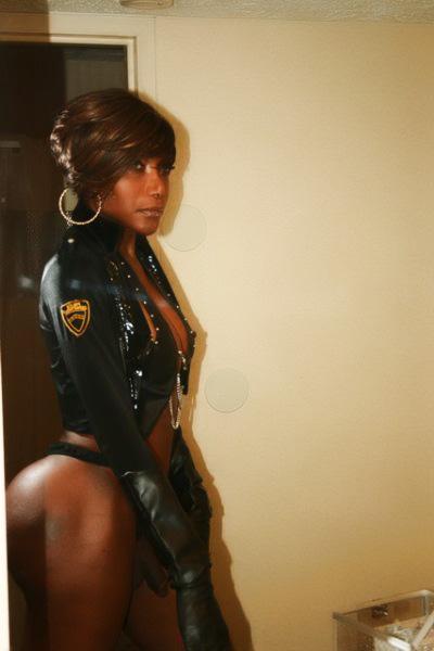 Shemale Kayla Ok - Vintage Photos of Nude TS Kayla KO strutting her big black ...