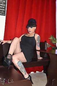 Mistress Kelly role playing as a waitress will ride your cock until you cum