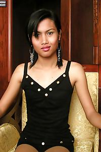 Shy, cute, tattooed tgirl from Laos.