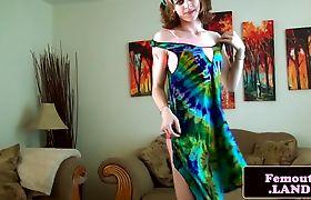 Transgender newbie tugging her huge cock