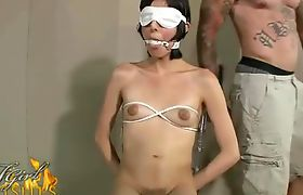 Gagged Bound and Blindfolded Shemale