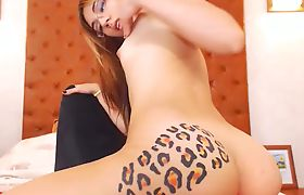 Shemale Angel Riding A Dildo With Her Inked Ass
