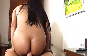 Sexy slender ladyboy wakes up and sucks a guys big dick