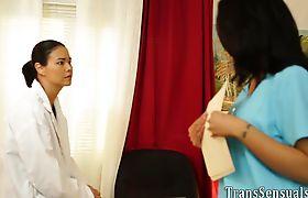Trans nurse barebacks patient