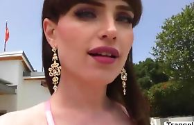 TBabe Natalie Mars loves hot outdoor anal sex with lover