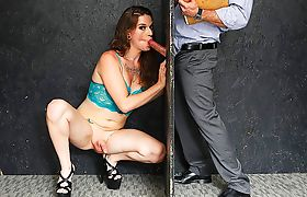 Transsexual glory hole with Jenna Creed