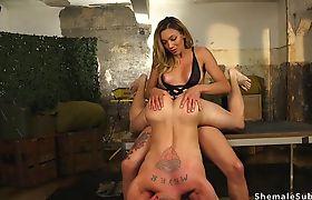 Big cock tranny anal fucks prisoner