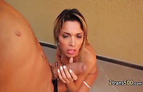 Sexy ass tranny ended deep fucked