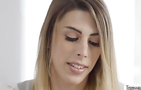 Cute Tgirl Casey gets ass fucked hard by her beau Rukus