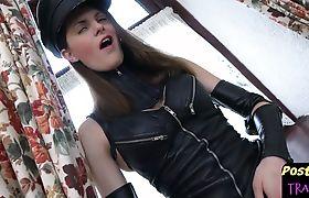 Post op trans filmed during amateur debut