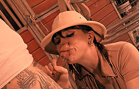 Transbabe Lena Moon finally gets anal by a bigcock in doggystyle