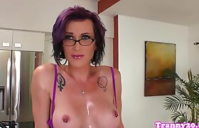 Busty shemales assfucking in doggystyle pose
