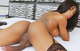 Black Trans Girl Sabrina Loppes Loves To Jerk Off