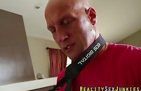 Real tranny spunks cock