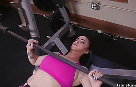Blonde tranny fucking blonde from gym