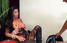 Hot 3some with Tranny Valerya Pacheco
