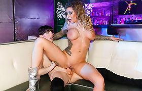 TS stripper Natalie Mars throats and anals big tits Karma RX