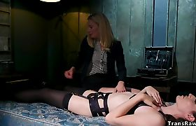 TS dominates and fucks her captor