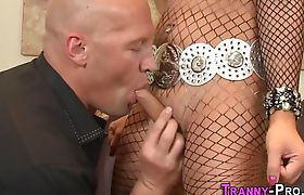 Kinky tgirl ho getting mouth jizzed