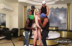 Black guys gangbanged big ass tranny