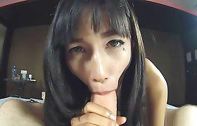 Thai Ladyboy Kaori Mouth And Ass Fucked