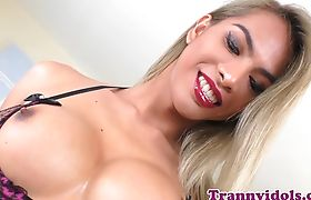Jizzsprayed ts babe plowed doggystyle