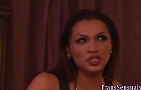 Latina trans rides jizz