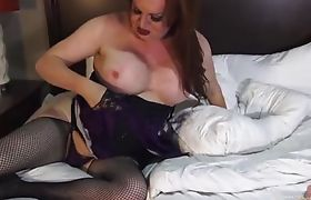 Watch Wendy Stroke Her Cock Until Hot Creamy Cum Explodes All Over the Sheets